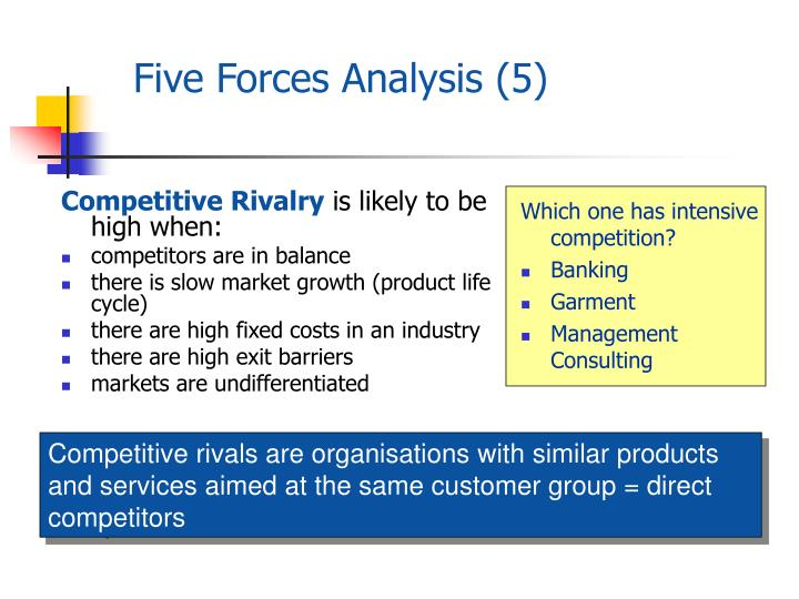 puma five forces analysis Porter's five forces framework is a tool for analyzing competition of a business it draws from industrial organization (io) economics to derive five forces that.