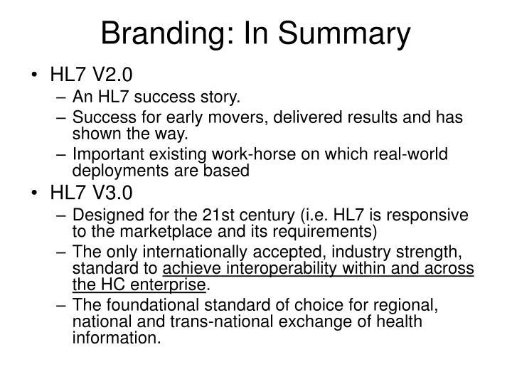 Branding: In Summary