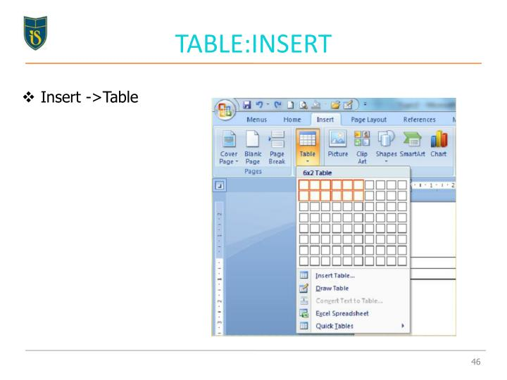 TABLE:INSERT