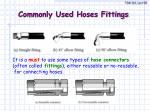 commonly used hoses fittings