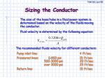 sizing the conductor