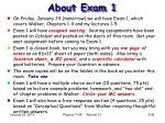 about exam 1