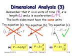 dimensional analysis 3