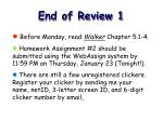 end of review 1
