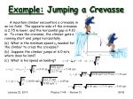 example jumping a crevasse