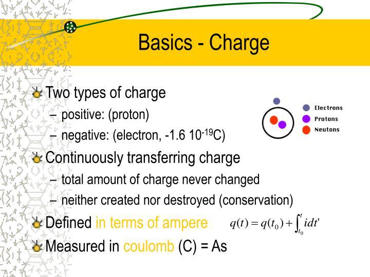 Basics - Charge