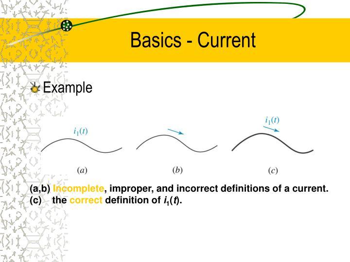Basics - Current