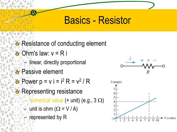 Basics - Resistor