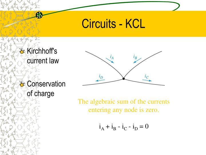 Circuits - KCL