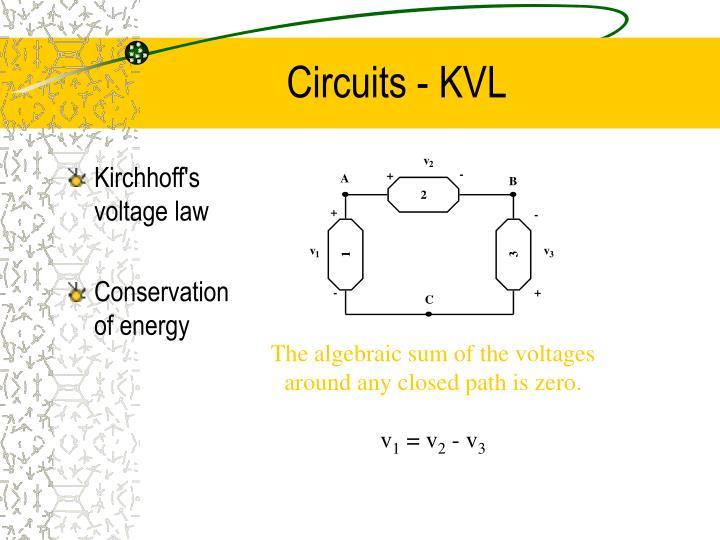 Circuits - KVL