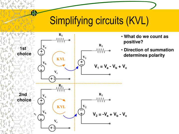 Simplifying circuits (KVL)