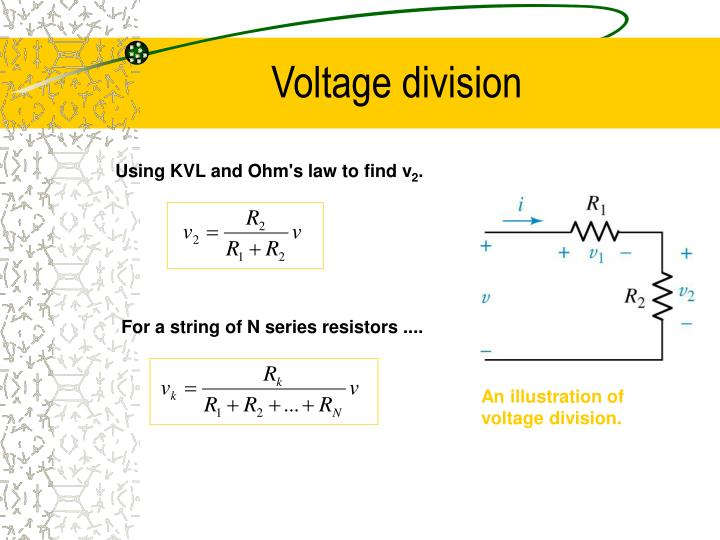 An illustration of voltage division.