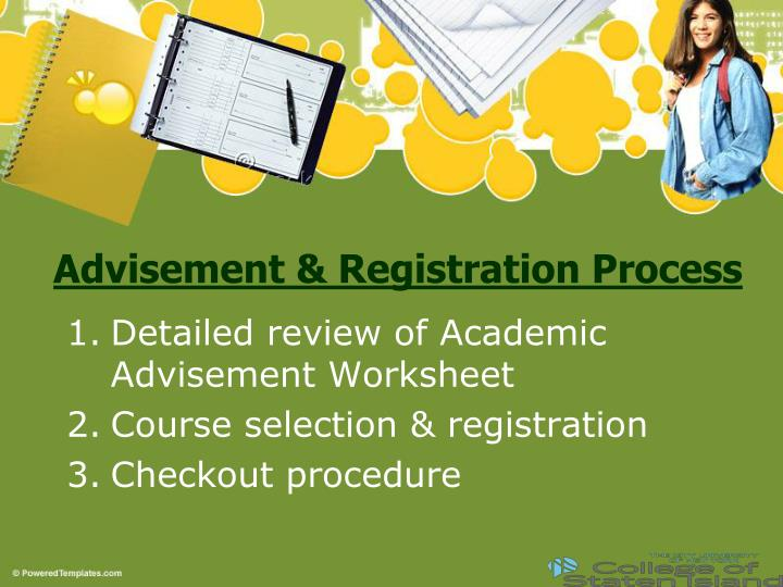academic advisement Academic advisement take the guesswork out of choosing classes academic advisement office building: enrollment center (ec) phone: (623) 845-3690.