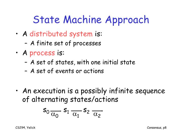 State Machine Approach