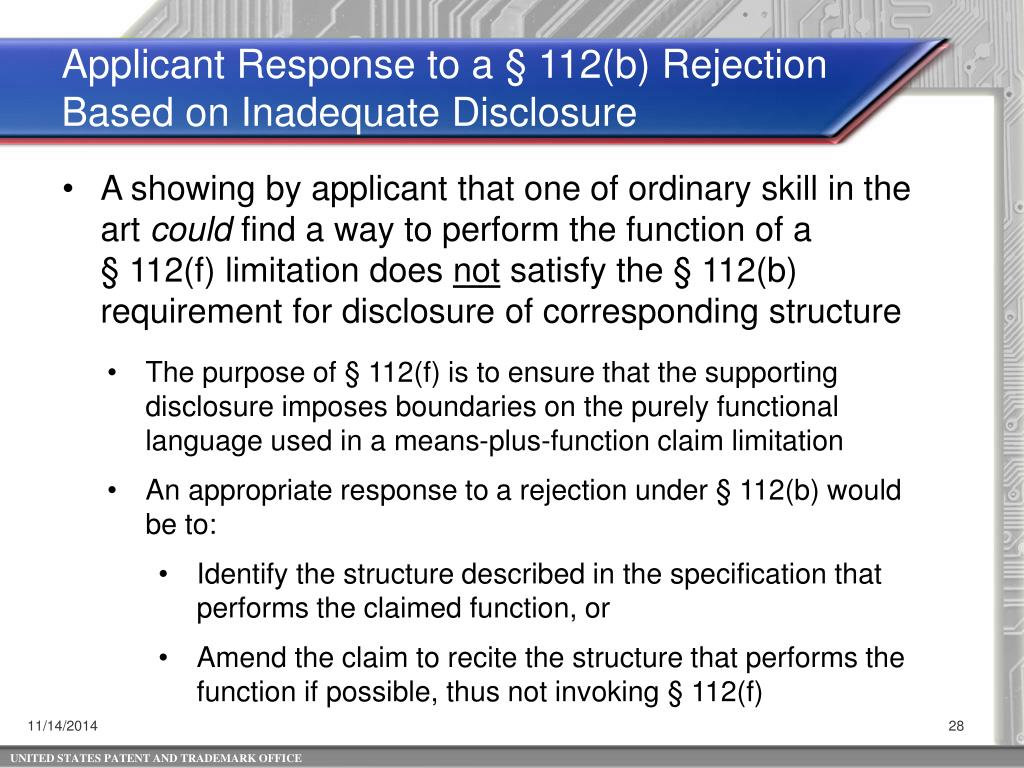 PPT - 35 USC 112(f)*: Broadest Reasonable Interpretation and