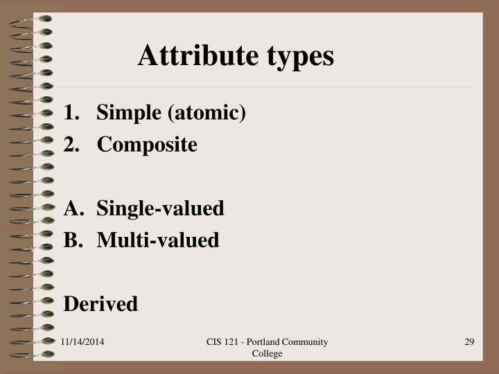 Attribute types