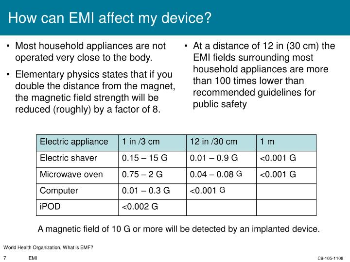 How can EMI affect my device?