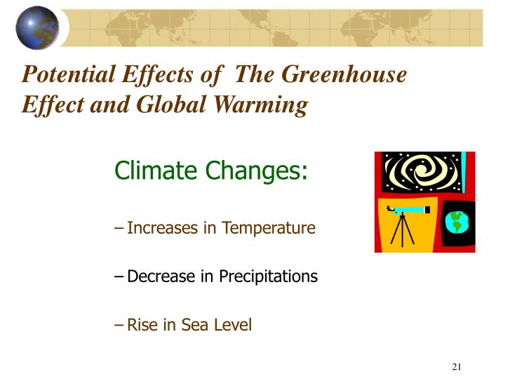 Potential Effects of  The Greenhouse Effect and Global Warming