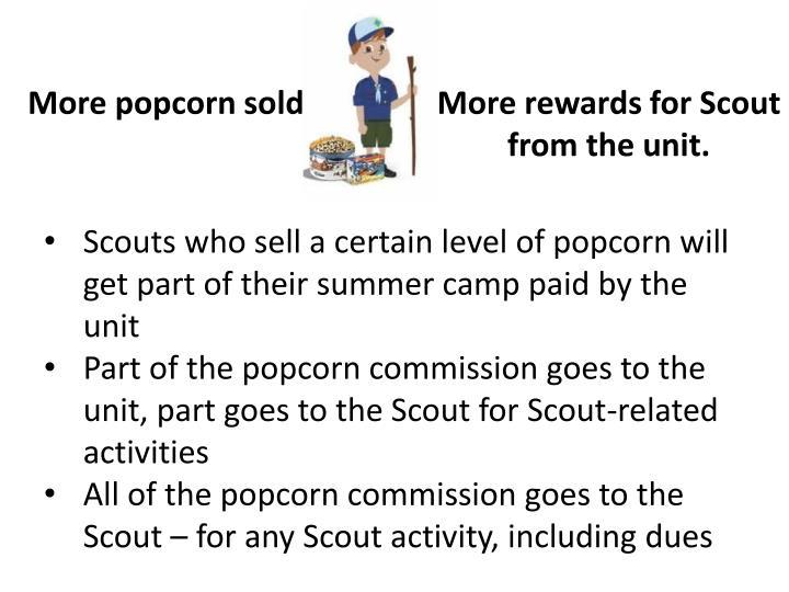 More popcorn sold