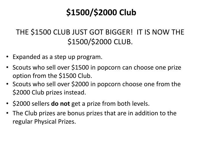 $1500/$2000 Club