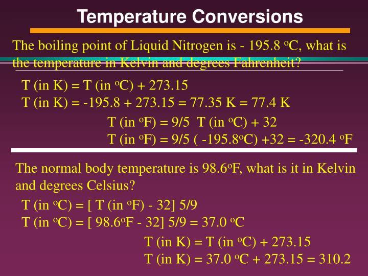 Temperature Conversions