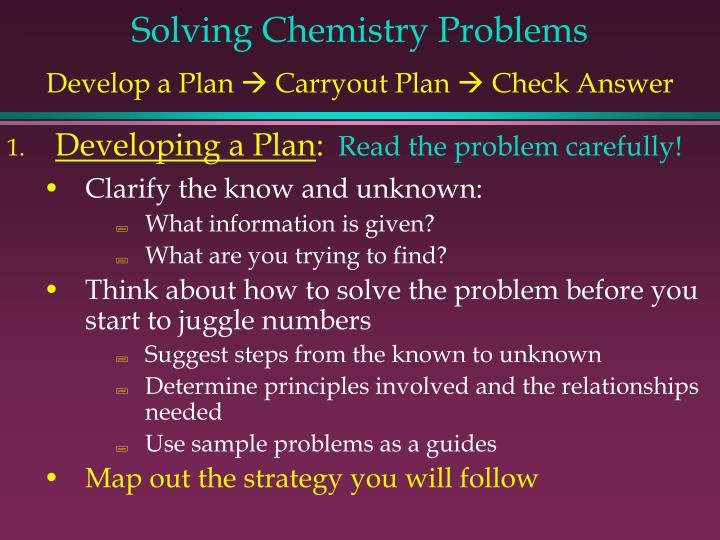 Solving Chemistry Problems