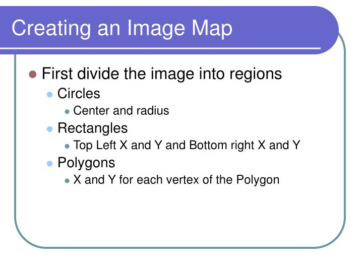 Creating an Image Map