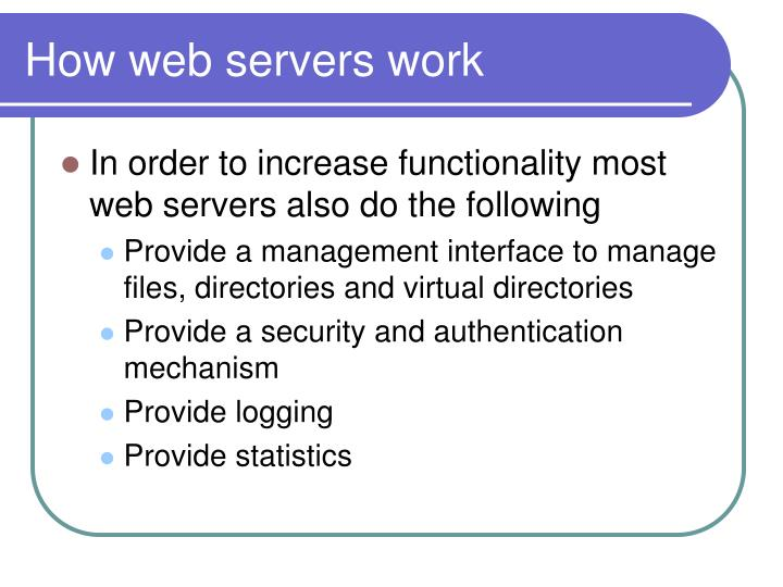 How web servers work