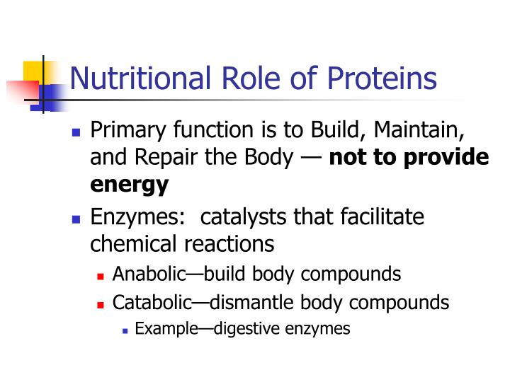 Nutritional Role of Proteins