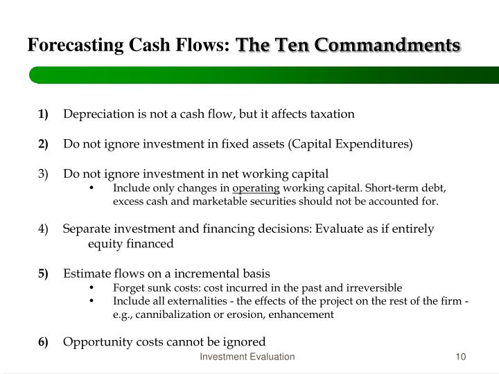 Forecasting Cash Flows: