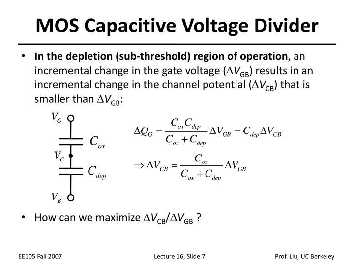 MOS Capacitive Voltage Divider