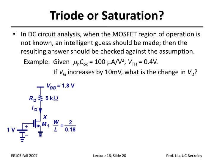 Triode or Saturation?
