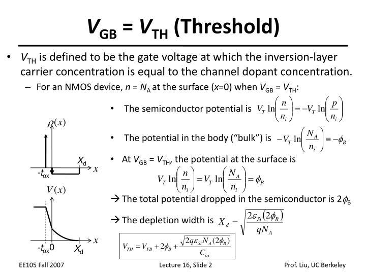V gb v th threshold