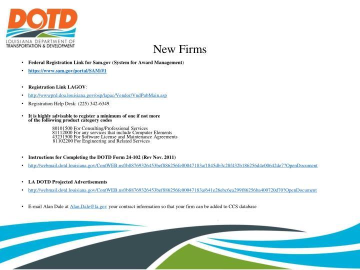 New Firms