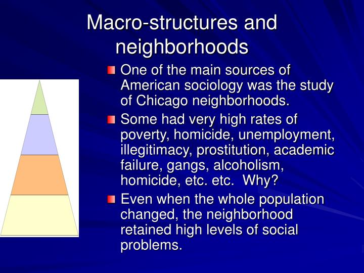 Macro-structures and neighborhoods