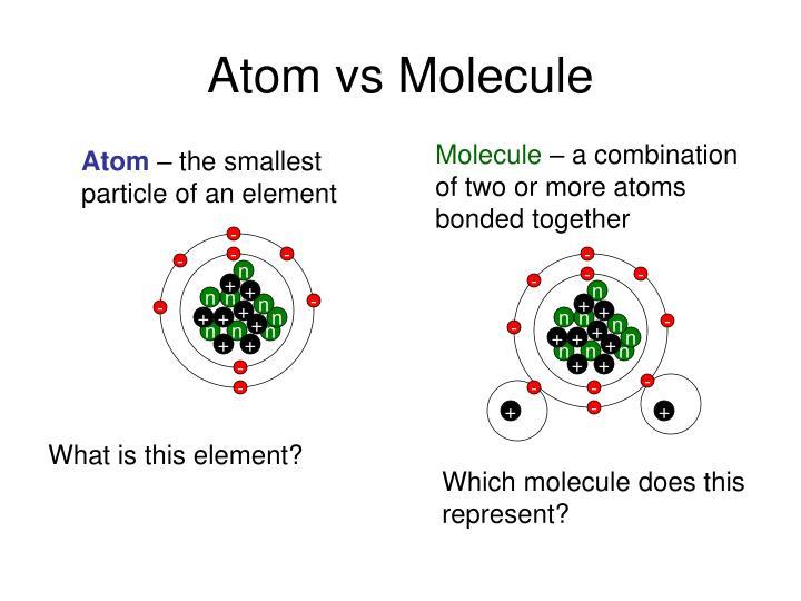 Atom vs Molecule