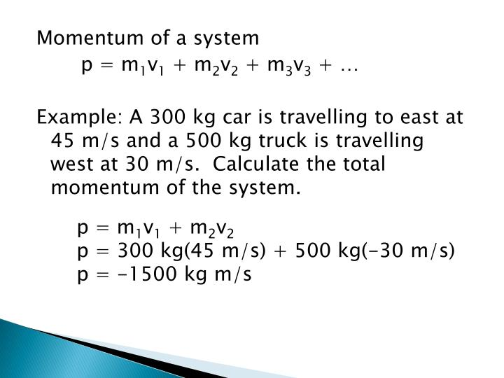 Momentum of a system