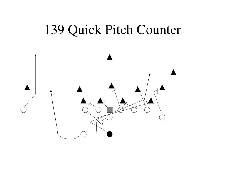139 Quick Pitch Counter