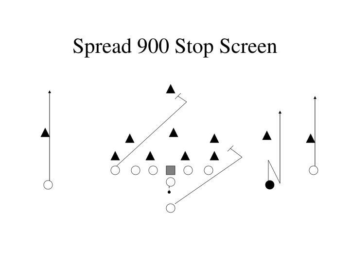 Spread 900 Stop Screen