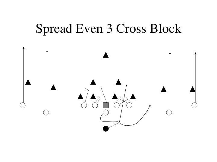 Spread Even 3 Cross Block