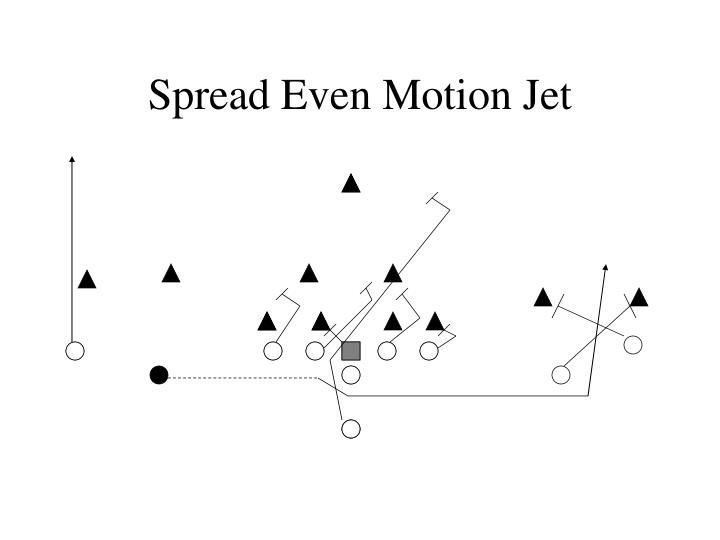 Spread Even Motion Jet