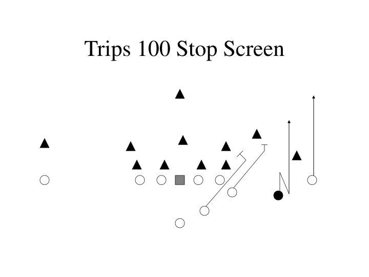 Trips 100 Stop Screen