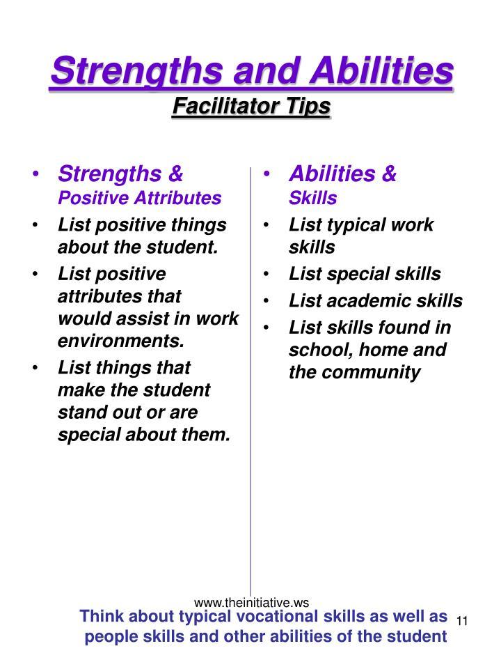 positive skills list