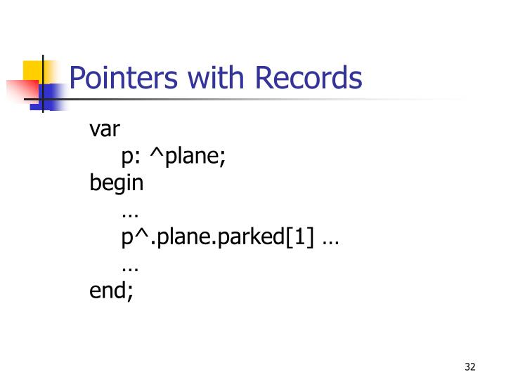 Pointers with Records
