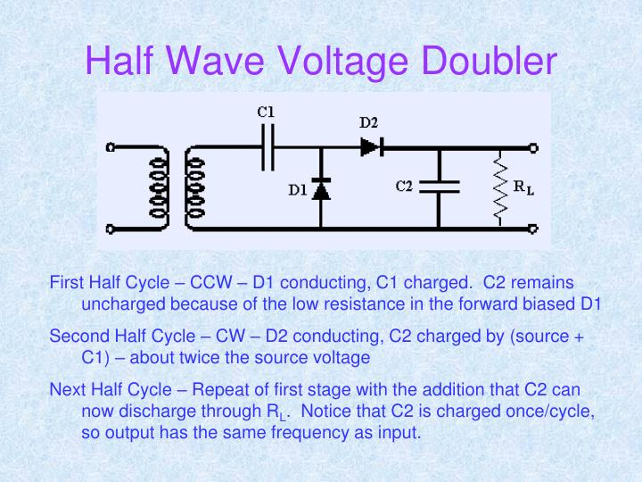 Half Wave Voltage Doubler