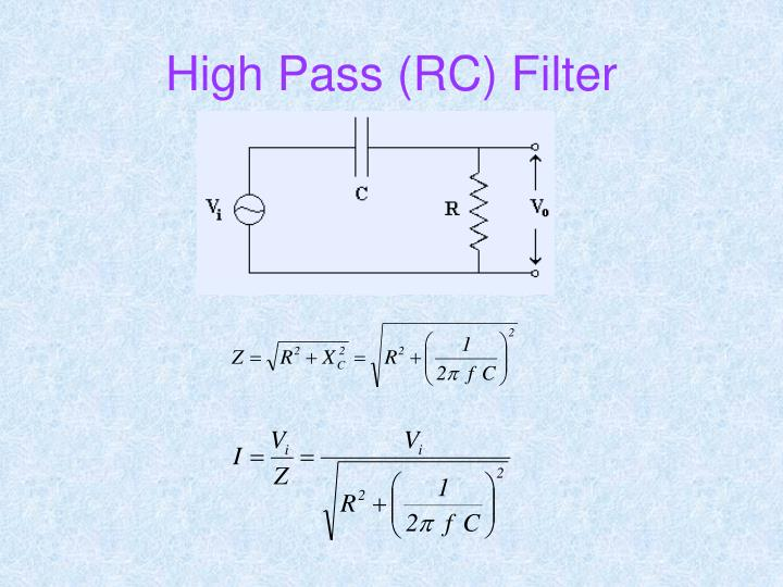 High Pass (RC) Filter