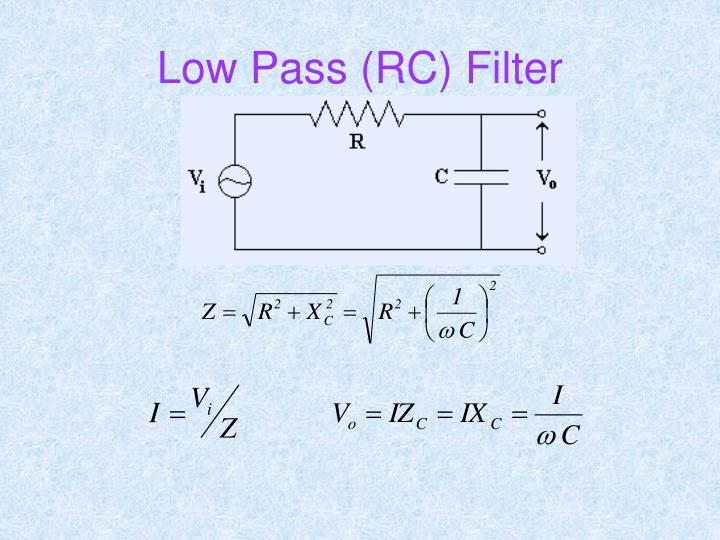 Low Pass (RC) Filter