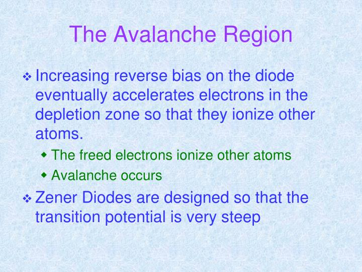 The Avalanche Region