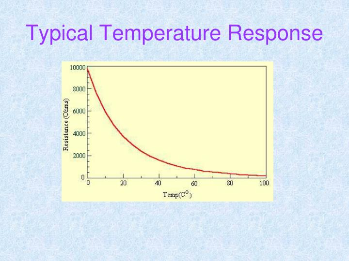Typical Temperature Response