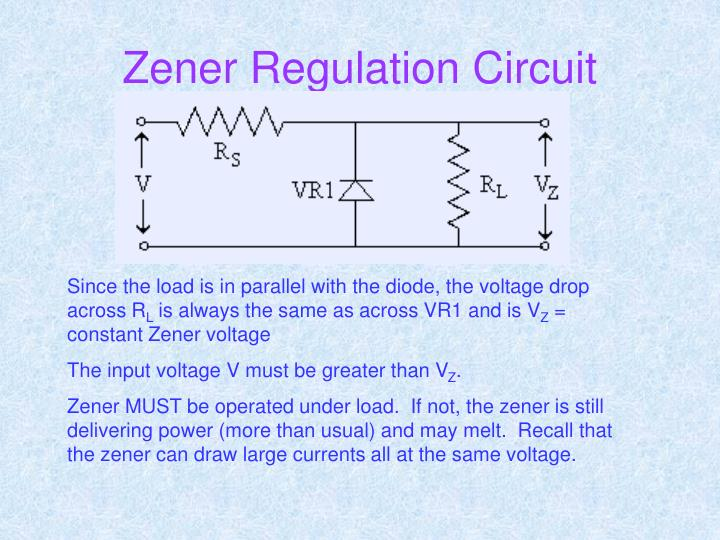 Zener Regulation Circuit